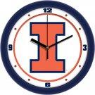 Illinois Fighting Illini Traditional Wall Clock