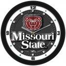 Missouri State Bears Carbon Fiber Textured Wall Clock