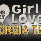 This Girl Loves Georgia Tech Novelty Metal License Plate