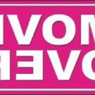 Move Over Pink Novelty Metal License Plate