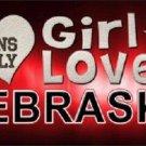 This Girl Loves Nebraska Novelty Metal License Plate