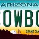 Cowboy Arizona Novelty Metal License Plate
