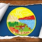 Montana Flag Scroll Novelty Metal License Plate