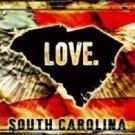South Carolina Love Novelty Metal License Plate