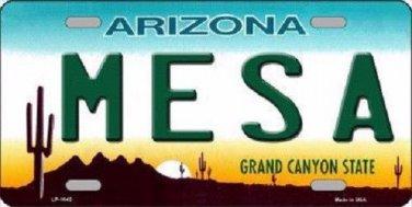 Mesa Arizona Novelty Metal License Plate