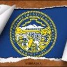 Nebraska Flag Scroll Novelty Metal License Plate