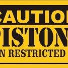 Caution Pistons Vanity Metal Novelty License Plate