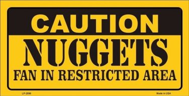 Caution Nuggets Vanity Metal Novelty License Plate