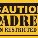 Caution Padres Vanity Metal Novelty License Plate
