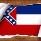 Mississippi Flag Scroll Novelty Metal License Plate