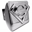 Superman (3D Shield) ALL METAL Shiny Chrome Hitch Cover
