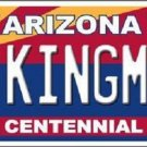 Arizona Centennial Kingman Metal Novelty License Plate