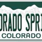 Colorado Springs Colorado Background Novelty Metal License Plate