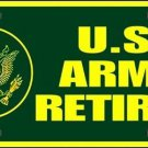United States Army Retired Novelty Vanity Metal License Plate