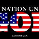 One Nation Under God Vanity Metal Novelty License Plate