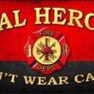 Real Heroes Novelty Metal License Plate