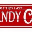 Candy Canes Novelty Metal Arrow Sign