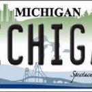 Michigan Novelty Metal License Plate