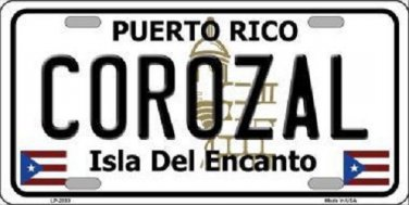 Corozal Puerto Rico Metal Novelty License Plate
