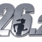 26.2 Chrome Auto Emblem (3D with Female runner; Marathon)