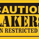 Caution Lakers Vanity Metal Novelty License Plate