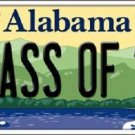Class of '18 Alabama Background Novelty Metal License Plate