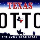 Cotton Texas Novelty Metal License Plate
