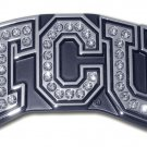 Texas Christian University (with Austrian Crystals) Chrome Emblem
