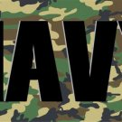 Navy Camo Photo License Plate