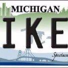 Biker Michigan Metal Novelty License Plate