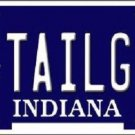 Tailgtr Indiana Novelty Metal License Plate
