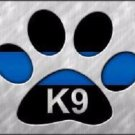 Thin Blue Line Paw K-9 Metal Novelty License Plate