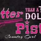Two Dollar Pistol Novelty Metal License Plate