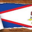 American Samoa Flag Scroll Novelty Metal License Plate