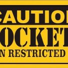 Caution Rockets Vanity Metal Novelty License Plate