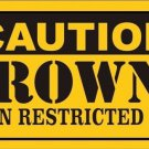 Caution Browns Vanity Metal Novelty License Plate