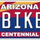 Arizona Centennial Biker Novelty Metal License Plate