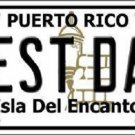 Best Dad Puerto Rico Metal Novelty License Plate