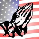 American Flag Praying Hands Novelty Vanity Metal License Plate