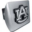 """Auburn University (""""AU"""") Brushed Chrome Hitch Cover"""