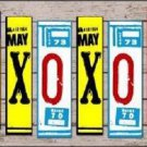 XOXO License Plate Art Novelty Metal License Plate