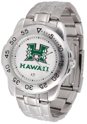 Hawaii Warriors Mens' Sport Steel Watch