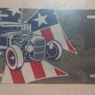 Retro Rod Offset Metal Novelty License Plate