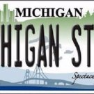 Michigan State Metal Novelty License Plate