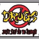 Just Say No To Drugs Metal Novelty License Plate