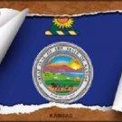 Kansas Flag Scroll Novelty Metal License Plate
