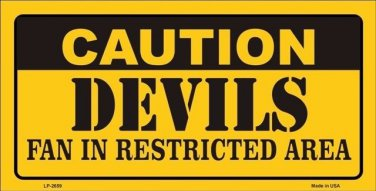 Caution Devils Vanity Metal Novelty License Plate