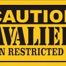 Caution Cavaliers Vanity Metal Novelty License Plate
