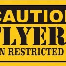 Caution Flyers Vanity Metal Novelty License Plate
