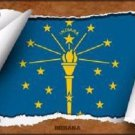Indiana Flag Scroll Novelty Metal License Plate
